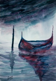 BETWEEN WATER AND SHADOWS (watercolour)