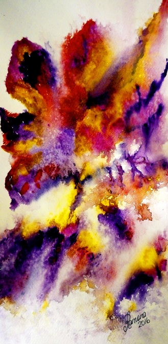 PHOTOGRAPHED BY LIGHTNING (watercolour)