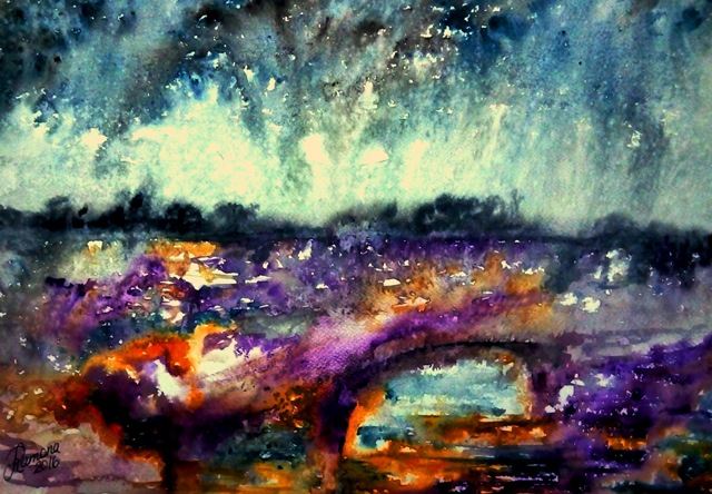 A DIFFERENT RAIN (watercolour)
