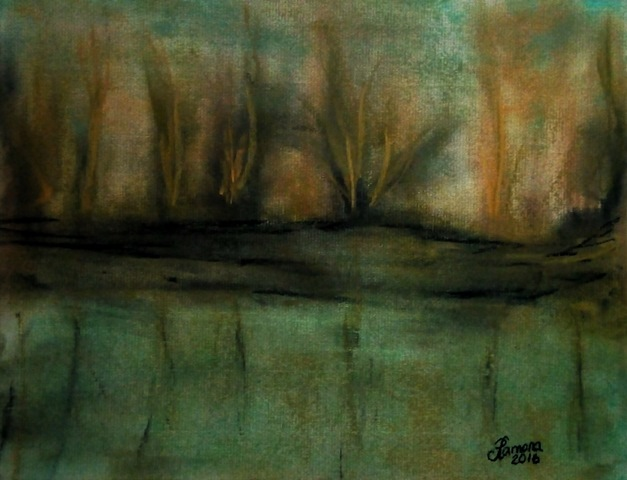 """STILL WATERS"" (soft pastel on pastel paper)"