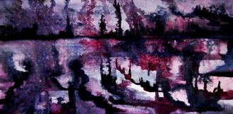 REFLECTIONS OF A CITY IN A DREAM (watercolour)