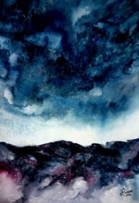 SEARCHING FOR THE SKIES (watercolour)