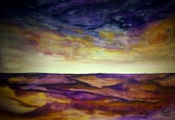 VERSES IN THE SKY (watercolour)