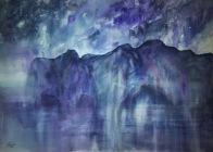 AMETHYST MOUNTAINS (watercolour, 77cms x 56cms)