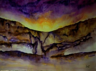 NARRATIONS OF SAND AND STONE (watercolour, 77cms x 56cms)