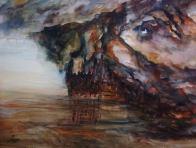 EARTH'S EYE (watercolour, A3)
