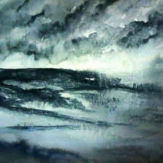 WINTER SPLENDOUR (watercolour, A3)