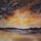 SKIES OVER ZURRIEQ AND RABAT (watercolour, A3)