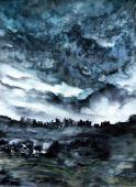 RAIN IN ABU DIS (inspired by Rima Najjar's photography)