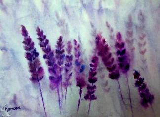 PURPLE DREAM (watercolour, A3)