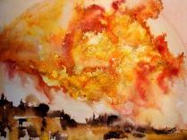 FLAME (watercolour, A3)