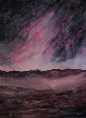 IMPRESSION OF SAN PEDRO DE ATACAMA, CHILE (watercolour, 76cm x 56cm)