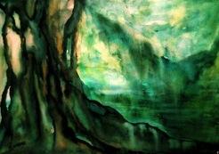 MEMORIES OF A LEAF (watercolour, A3)
